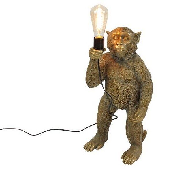 Vloerlamp aap Koko goud