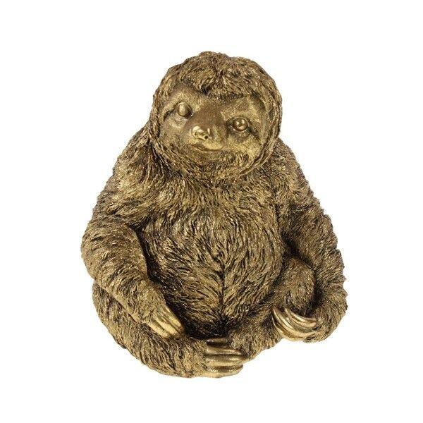 Beeld sloth Flash goud