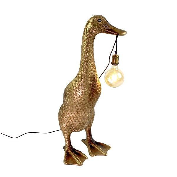 Vloerlamp eend gold