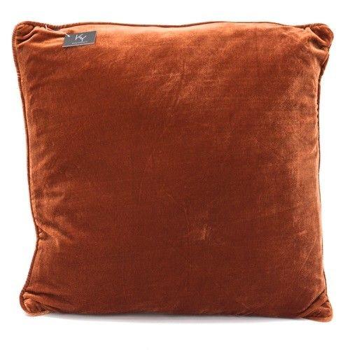 Kussen velours oranje