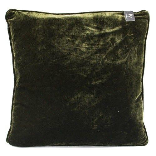 Kussen velours groen