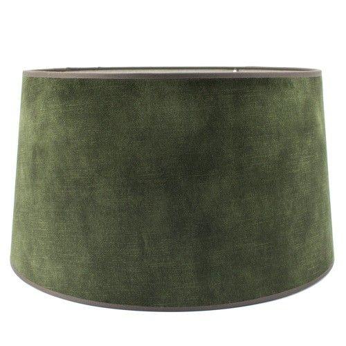 Lampenkap velvet groen