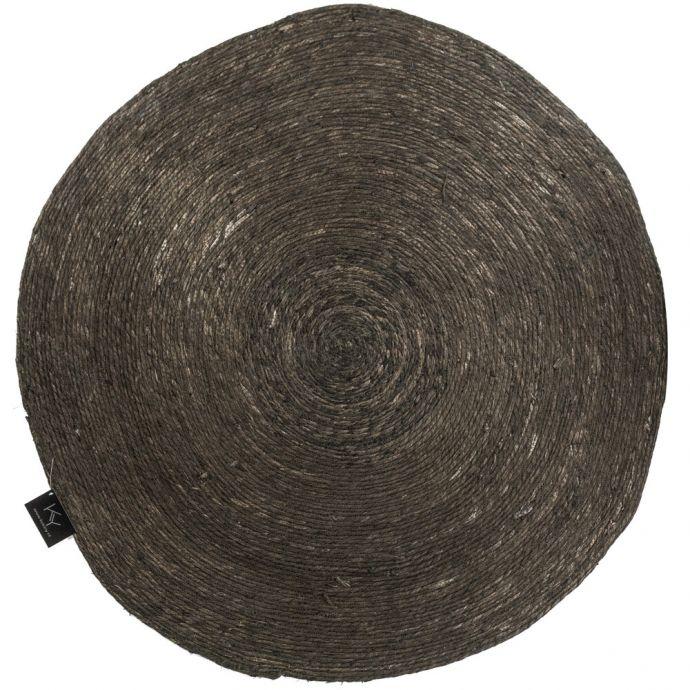 Rotan vloerkleed zwart