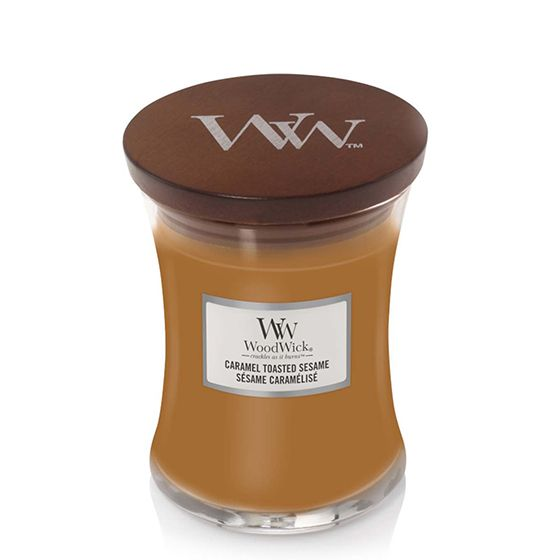 WoodWick Candle Caramel Toasted Sesame