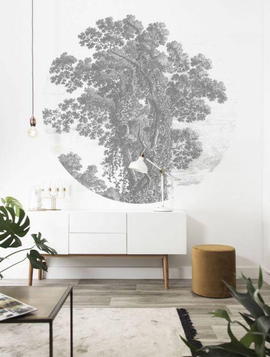 Behangcirkel Engraved tree