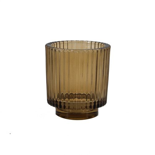 Waxinehouder glas roest