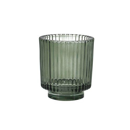 Glazen waxinehouder groen