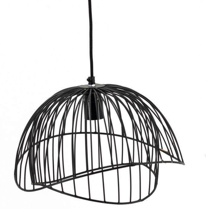 Chique hanglamp zwart metaal