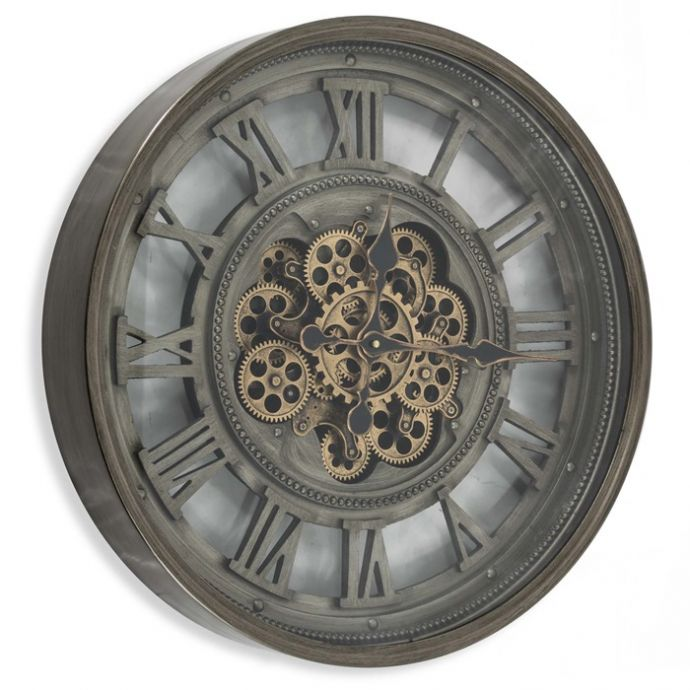 Raderklok brons