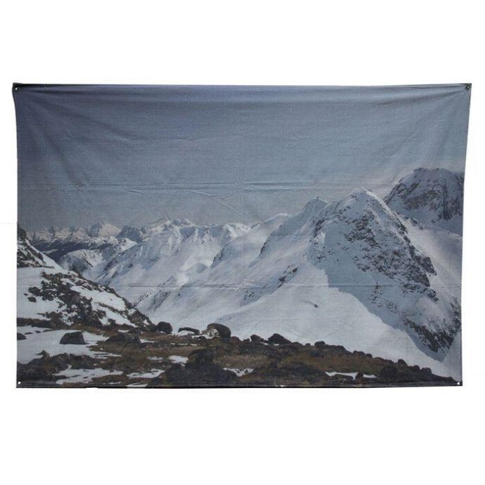 Wanddoek bergen