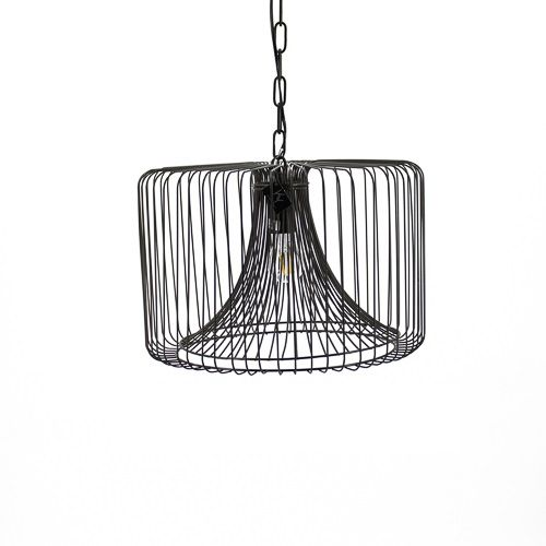 Stoere metalen hanglamp