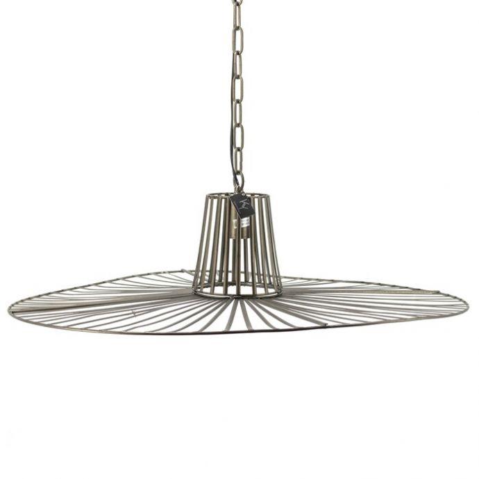 Ronde metalen hanglamp