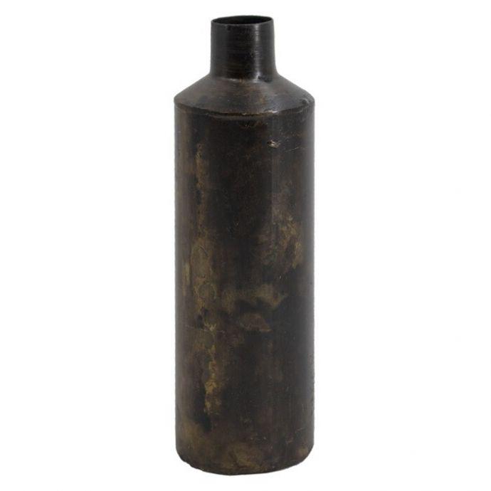 Bruin metalen vaasje