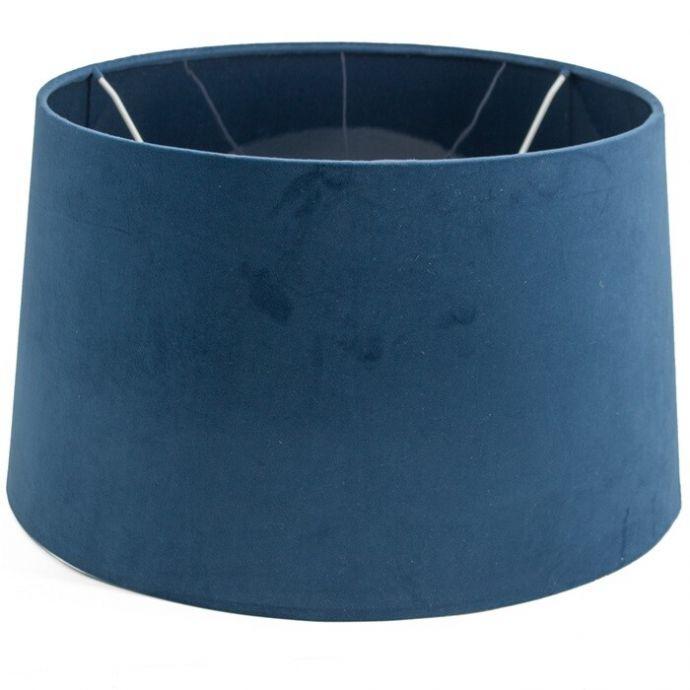 Lampenkap velvet blauw