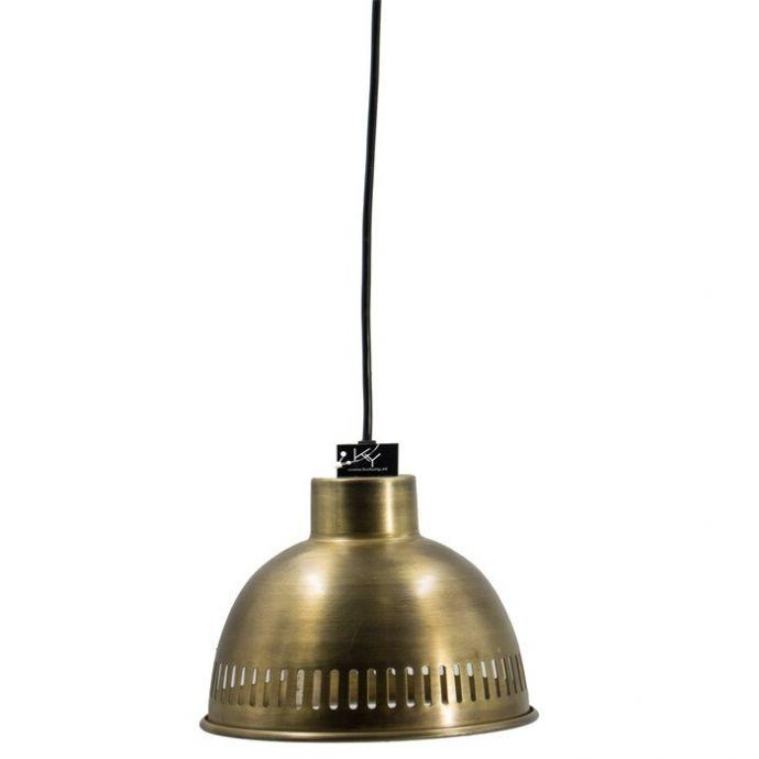 Metalen hanglampje retro goud
