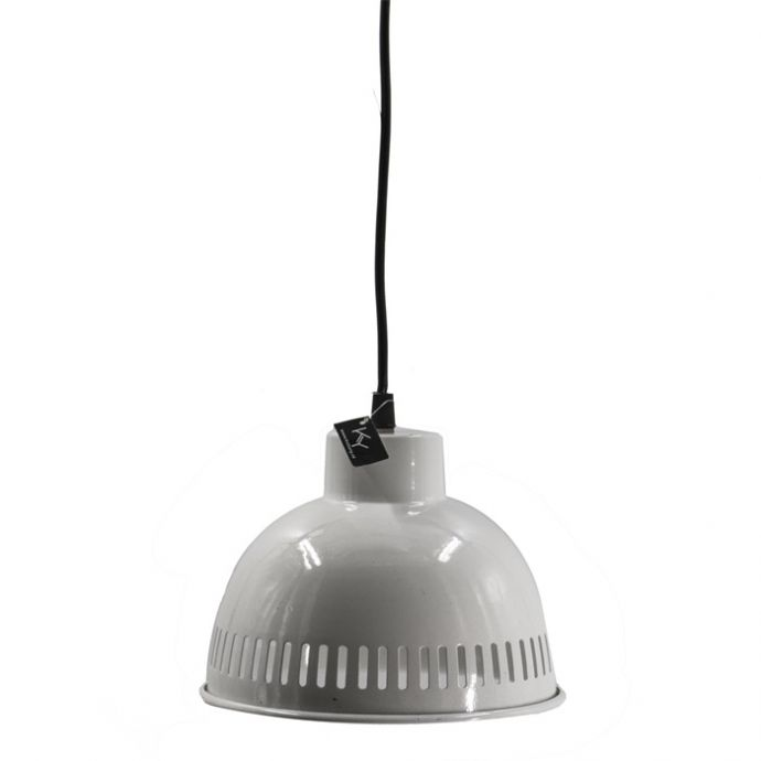 Metalen hanglampje retro wit