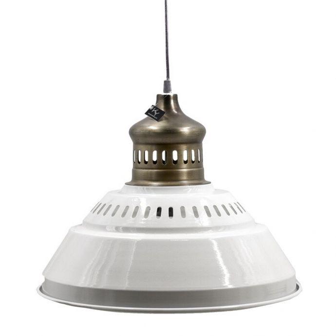 Hanglamp metaal wit/goud