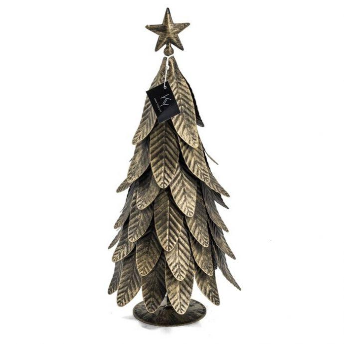 Kerstboompje metaal goud