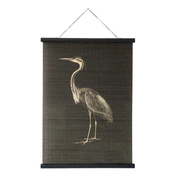 Wandkaart kraanvogel bamboe