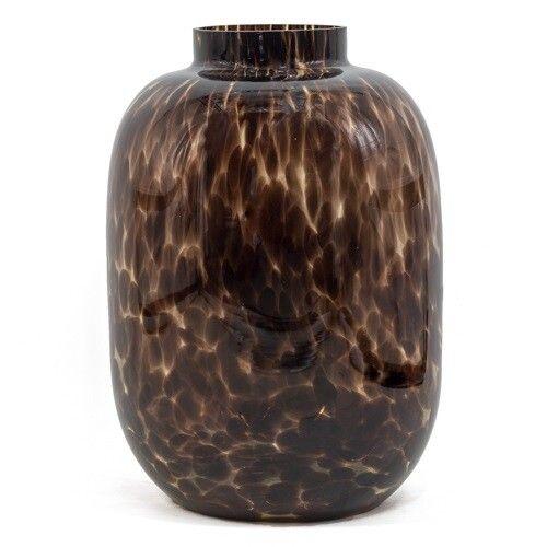 Glazen vaas luipaard