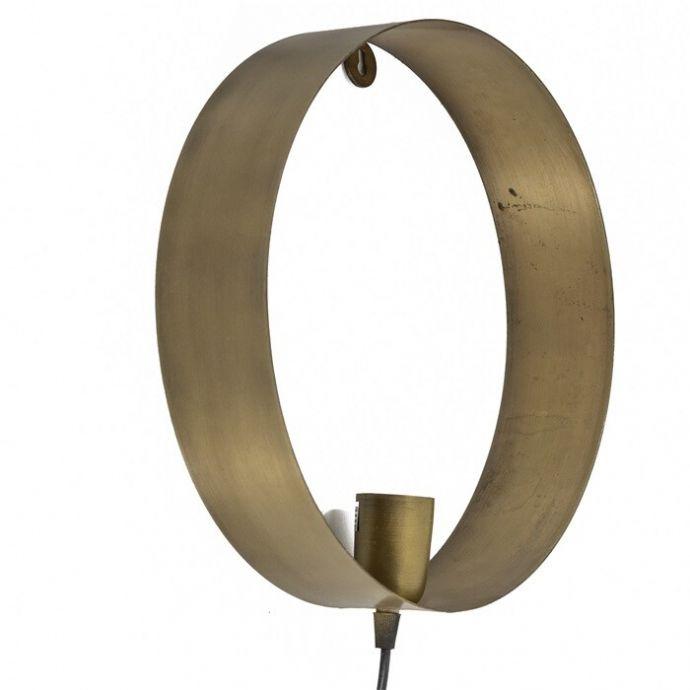 Wandlamp metaal cirkel