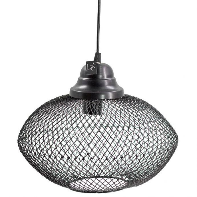 Hanglamp gaas zwart