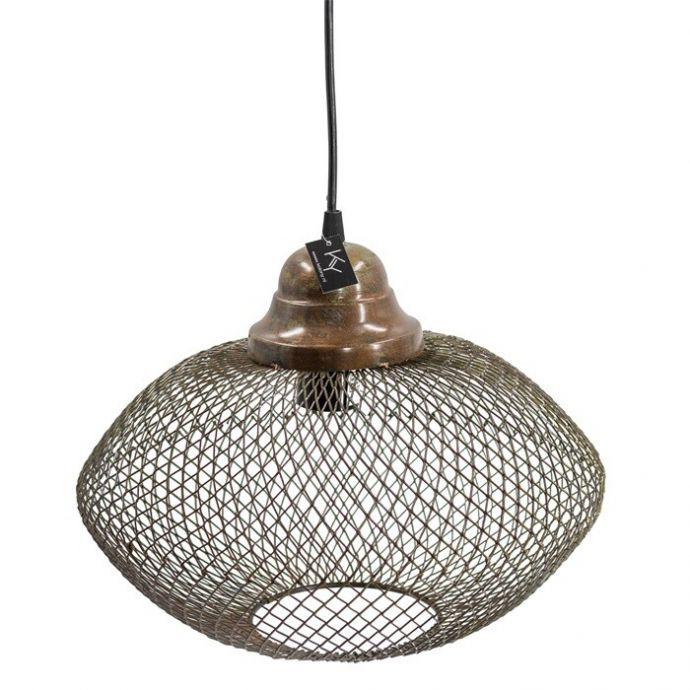 Hanglamp gaas brons
