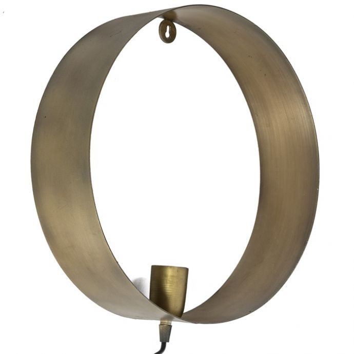 Wandlamp cirkel metaal