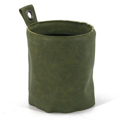 Plantenhouder velours groen