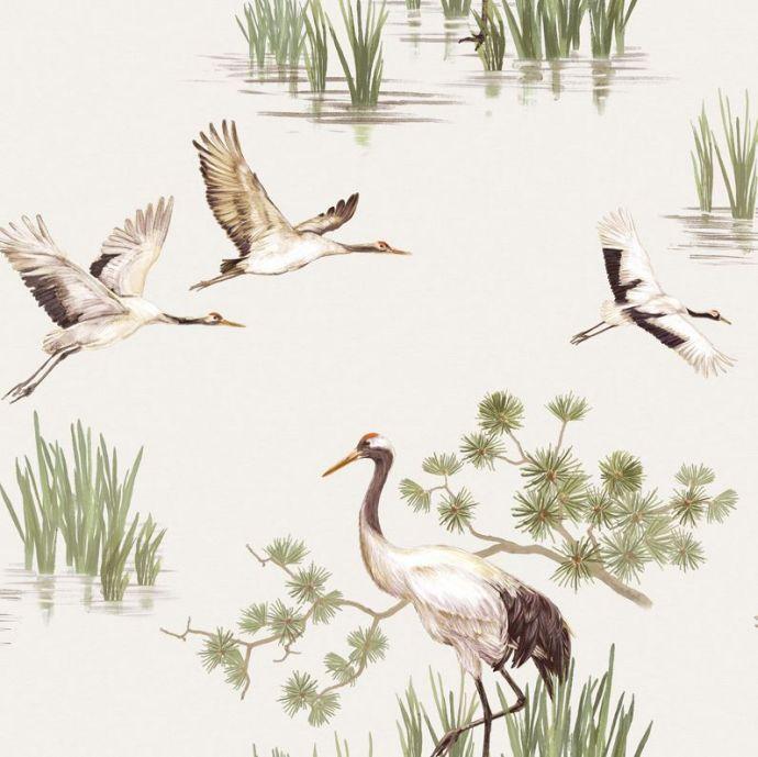 Patroon behang Kraanvogel