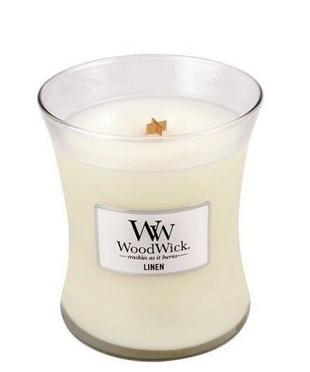 WoodWick Candle Linen