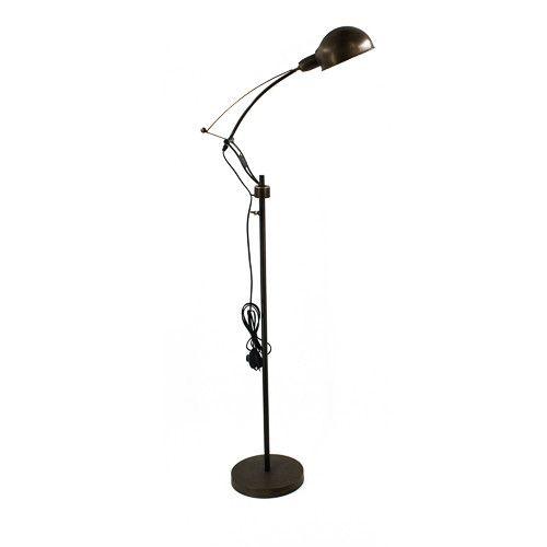 Bronzen vloerlamp