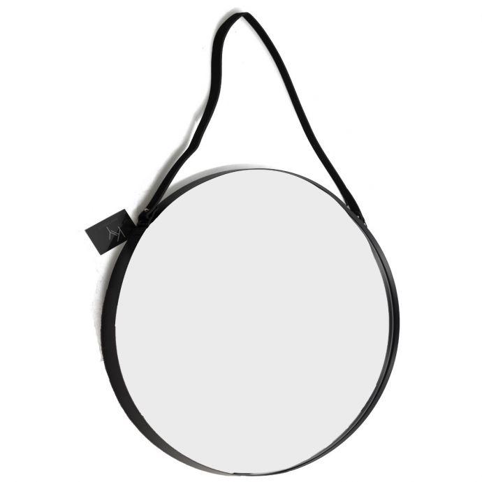 Ronde spiegel met band