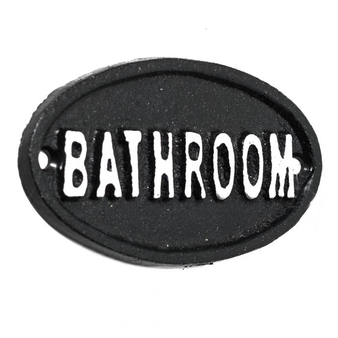 Bathroom bordje
