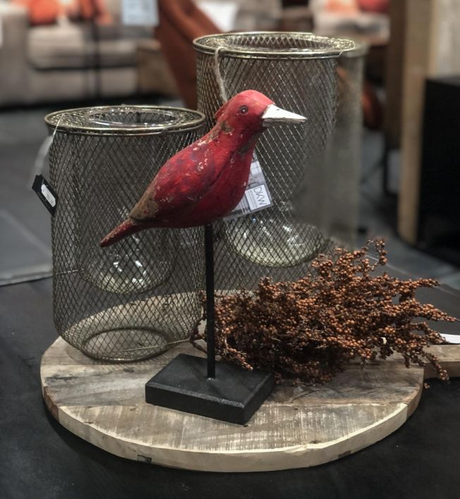Houten vogel vintage