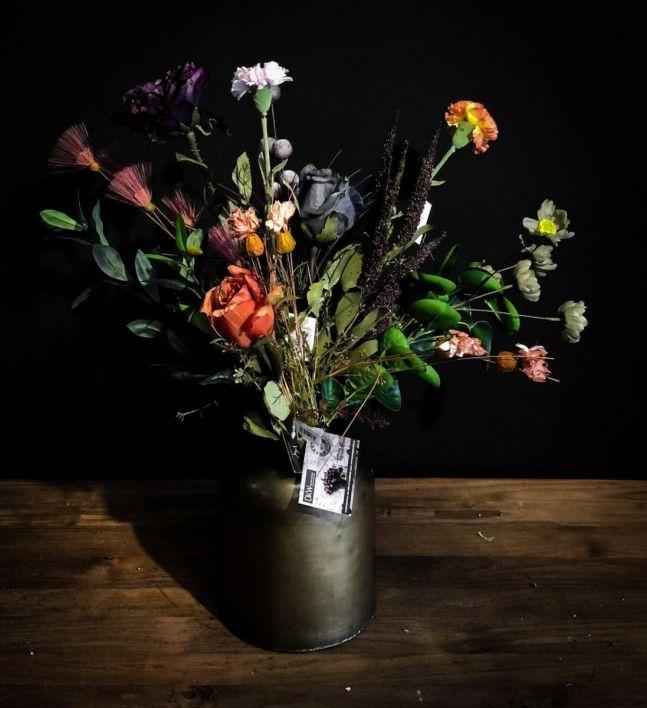 Bos kunstbloemen compleet - medium