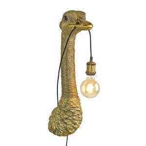 Wandlamp struisvogel Franz Josef goud