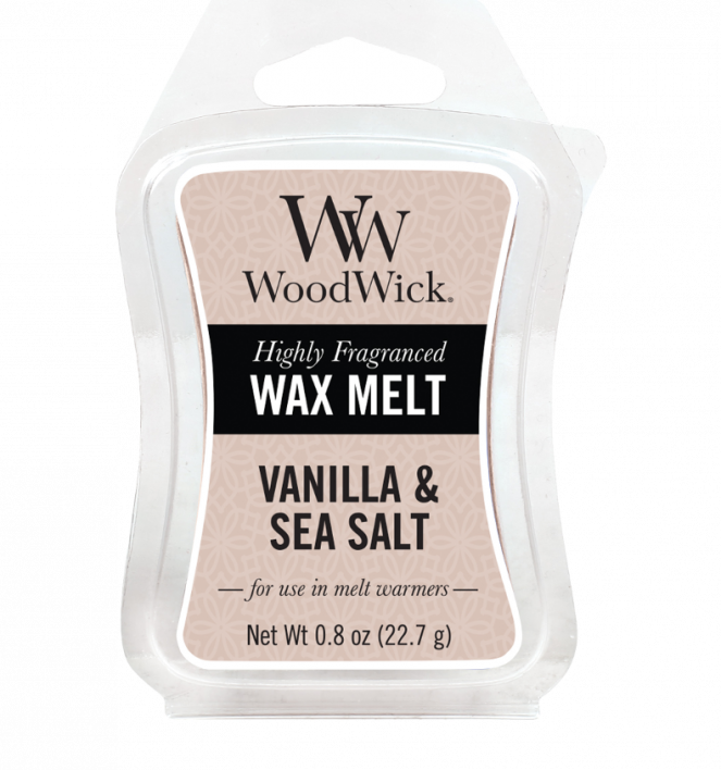 WoodWick Wax Melt Vanilla & Sea Salt