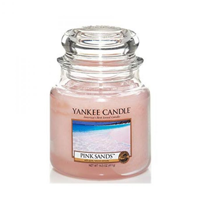 Yankee Candle pink sands medium jar