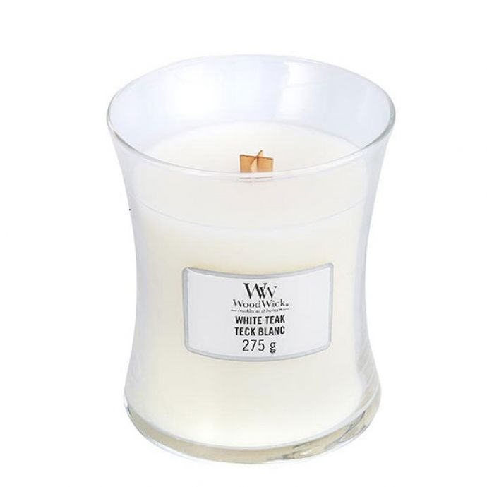 WoodWick Candle White teak