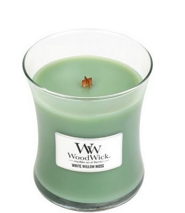 WoodWick Candle White Willow Moss