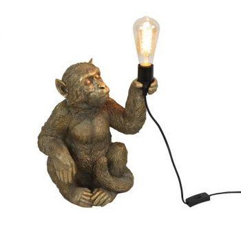 Tafellamp aap Abu goud