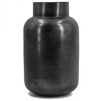 Zwart metalen vaas